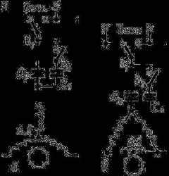 Рис 3. Схема включения в однофазную сеть трехфазного асинхронного двигателя с обмотками статора...